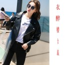 leather clothing Other / other Autumn 2020 XS,S,M,L,XL,2XL Black, black, plush and thickened Long sleeves Wash skin
