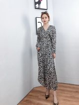 Dress Spring 2021 black One size fits all reservation Mid length dress singleton  Long sleeves commute V-neck middle-waisted Solid color Single breasted other routine Others 25-29 years old BodhlCat Britain Button, zipper 22Z68D More than 95% other other
