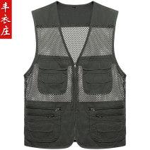 Vest / vest other Others L,XL,XXL,XXXL,XXXXL Travel? standard Vest thin summer V-neck middle age 2019 Basic public 61# zipper Multiple pockets