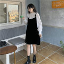 Dress Winter 2020 Picture color Average size Short skirt singleton  Long sleeves Sweet stand collar Loose waist Solid color Socket A-line skirt shirt sleeve Others 18-24 years old Type H 30% and below other other college