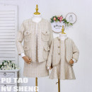 Parent child fashion Women's dress female Grape girl 90cm, 100cm, 110cm, 120cm, 130cm, 140cm, 150cm, 160cm, mom s, mom m, mom L, mom XL, mom XXL, mom 3XL, mom 4XL, mom 5XL spring and autumn 50. M, s, XL, XXL, XXXL, XXL 2, 3, 4, 5, 6, 7, 8, 9, 10, 11