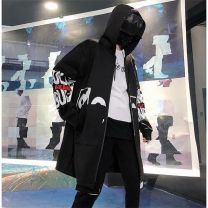 Windbreaker Others other 2XL,3XL,L,M,XL zipper have more cash than can be accounted for Self cultivation Other leisure autumn Large size Hood (not detachable) tide Other 100% devil No process Pleated patch bag Chunyafang badge Detachable sleeve