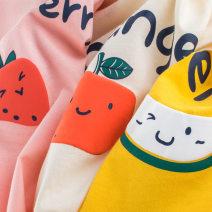 T-shirt Ht9306a gold, ht9306 pink, ht9306 apricot 27home 120cm,110cm,140cm,130cm,100cm,90cm female summer Short sleeve Crew neck Korean version cotton Solid color HT9306 Class A 3 months