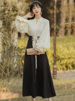 Fashion suit Spring 2021 S,M,L Shirt + black skirt Other / other