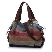 Bag The single shoulder bag canvas Crescent bag KVKY zipper One shoulder cross carry