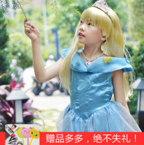 Whole wig Light gold, Skirt M, skirt L, Skirt XL, crown, cane Changwensi Long straight hair Animation cos Fashion girl Can be even or oblique bangs