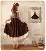 Dress Summer of 2019 brown S,M,L,XL,2XL Mid length dress Fake two pieces Short sleeve commute Doll Collar Loose waist lattice other A-line skirt Others 18-24 years old Type A Retro Fungus, splicing 81% (inclusive) - 90% (inclusive) cotton