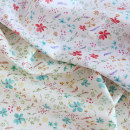 Fabric / fabric / handmade DIY fabric cotton Mint Green - - half size - 138x45cm, safflower - - half size - 138x45cm Loose shear piece Plants and flowers printing and dyeing clothing Japan and South Korea cottonvill 100% the republic of korea