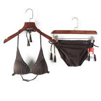 Split swimsuit Dai coffee M. L, L / 80A is not equipped With chest pad without steel support