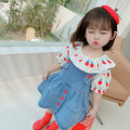 suit Other / other Top + skirt 80cm,90cm,100cm,110cm,120cm,130cm female summer Korean version Short sleeve + skirt 2 pieces Thin money There are models in the real shooting Socket nothing Solid color other children Expression of love Other 100% Chinese Mainland Zhejiang Province Hangzhou