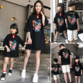 Parent child fashion A family of three Female, male Yiguli summer Chinese style Thin money Cartoon animation Finished T-shirt cotton Average size L,XL,XXL 12 months, 18 months, 2 years old, 3 years old, 4 years old, 5 years old, 6 years old, 7 years old, 8 years old Chinese Mainland