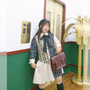 Women's large Autumn of 2019 Brown【 Large XL, 2XL, 3XL Dress singleton  Sweet easy moderate Cardigan Long sleeves other 18-24 years old Medium length solar system