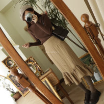 skirt Autumn 2020 S,M,L Black, leather powder, khaki