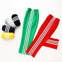 trousers Rainbow bus neutral 90cm,100cm,110cm,120cm,130cm,140cm,150cm,160cm Black, green, yellow, red, Navy, light grey, 01 grey - Plush spring and autumn trousers leisure time No model Sports pants Leather belt middle-waisted Pure cotton (100% content) Don't open the crotch Cotton 100% Class B