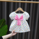 Dress female DD. Tang / ditiaotang Other 100% summer Korean version Short sleeve Dot cotton A-line skirt Class A Summer 2021 3 months 12 months 6 months 9 months 18 months 2 years 3 years 4 years old