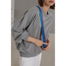 Sweater / sweater Spring 2021 Off white, grey, black, grey (pre-sale 12 days) S,M,L,. Long sleeves have cash less than that is registered in the accounts Socket singleton  routine Crew neck easy street routine Solid color 96% and above Dff.t/dafengfeng cotton Europe and America