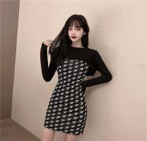 Fashion suit Spring 2021 S,M,L Khaki two piece set, black two piece set 18-25 years old 81% (inclusive) - 90% (inclusive) polyester fiber