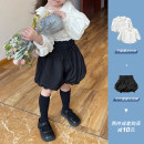 trousers The Little Avery female 90cm,100cm,110cm,120cm,130cm summer shorts princess There are models in the real shooting Casual pants Leather belt middle-waisted polyester Don't open the crotch 18 months, 2 years, 3 years, 4 years, 5 years