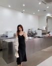 Dress Spring 2021 Black, champagne, blue, cream white, Galaxy grey, irregular collar, champagne, irregular collar, peach powder, irregular collar, peacock blue, irregular collar, black XXS,XS,S,M longuette singleton  Sleeveless commute Solid color Socket A-line skirt camisole 25-29 years old Type A