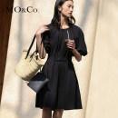 Dress Summer 2021 black XS/155 S/160 M/165 L/170 XL/175 Mid length dress singleton  Short sleeve street Solid color 25-29 years old MO & Co. / Moco MBA2DRST03 51% (inclusive) - 70% (inclusive) cotton Cotton 68.4% polyamide fiber (nylon) 27.7% polyurethane elastic fiber (spandex) 3.9%