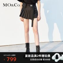 Casual pants black XS/155 S/160 M/165 L/170 XL/175 Summer 2021 shorts Straight pants High waist street routine 25-29 years old MO & Co. / Moco Polyester 100% Same model in shopping mall (sold online and offline) Europe and America