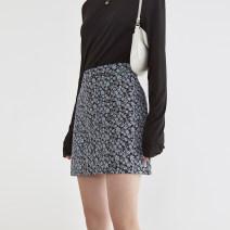 skirt Summer 2021 S,M,L Blue, blue, second batch Short skirt commute High waist A-line skirt Decor Type A 18-24 years old FX21B007 More than 95% other fano studios polyester fiber Simplicity