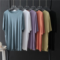 T-shirt Black, orange, violet, white, light green, haze blue Average size Summer 2020 Short sleeve Crew neck easy Medium length routine other 31% (inclusive) - 50% (inclusive) Solid color