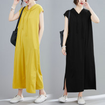 Dress Summer 2020 Apricot, yellow, black Average size longuette singleton  Sleeveless commute Hood Loose waist Solid color Socket other routine Others 25-29 years old T-type Other / other literature pocket 71% (inclusive) - 80% (inclusive) other