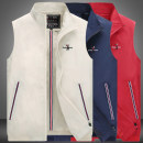 Golf apparel Beige thin spring and autumn, red thin spring and autumn, blue thin spring and autumn, beige thin spring and autumn, blue thin spring and autumn, red thin spring and autumn, dark blue thin spring and autumn, off white thin spring and autumn M,L,XL,XXL,XXXL male SHR Vest