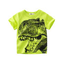 T-shirt 9567 m white Tyrannosaurus Rex head, 9567 fluorescent green Tyrannosaurus Rex head 27KIDS 90cm,100cm,110cm,120cm,130cm,140cm male summer Short sleeve Crew neck leisure time There are models in the real shooting nothing Pure cotton (100% cotton content) Cartoon animation Class A