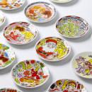 dish Chinese Mainland pottery 4.5 in 1 Japanese  Color in glaze circular Self made pictures Cartoon animation public Cartoon yes