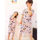 Nightdress Other / other Cartoon Short sleeve pajamas Middle-skirt summer Cartoon animation youth Crew neck cotton 81% (inclusive) - 95% (inclusive) Knitted cotton fabric