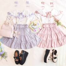 skirt Summer 2020 Average size No! Skirt purple, no return! Skirt black, no return! Skirt Pink, limited color skirt pink, limited color skirt red Short skirt Sweet High waist Ruffle Skirt Solid color Type A More than 95% other Other / other other Lolita