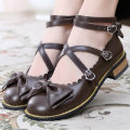Low top shoes 33,34,35,36,37,38,39,40,41,42 Other / other Round head Superfine fiber Flat bottom Low heel (1-3cm) Shallow mouth Superfine fiber Autumn 2020 Cross buckle Lolita Adhesive shoes Youth (18-40 years old), children (under 18 years old) Solid color TPR (tendon) Single shoes Shallow mouth