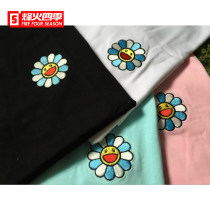 T-shirt Youth epidemic TRUNKS conventional S M L XL Pink white black blue standard Other leisure Short sleeve summer Round neck 18ss Couple outfit conventional tide two thousand and eighteen cotton embroidered Geometric patterns designer brand