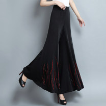 Casual pants Red, black 28,29,30,31,32,33 Spring 2021 trousers Wide leg pants High waist commute routine literature