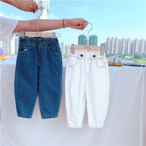 trousers Other / other neutral Blue, off white spring and autumn Jeans Leather belt Don't open the crotch Cotton 95% polyurethane elastic fiber (spandex) 5% Class B 18 months, 2 years old, 3 years old, 4 years old, 5 years old, 6 years old, 7 years old, 8 years old Chinese Mainland Zhejiang Province