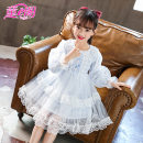 Dress Light blue, pink female Other / other 110cm,120cm,130cm,140cm,150cm,160cm Cotton 50% other 50% spring and autumn Sweet Long sleeves other cotton Princess Dress 1F208 Class B 8 years old Chinese Mainland