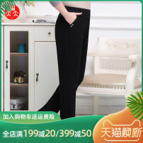 Middle aged and old women's wear Winter of 2019 black fashion trousers easy other 50-59 years old moderate FTT / Mrs. Fook Lycra Lycra 30% and below trousers