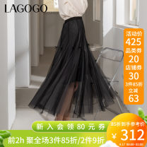 skirt Spring 2021 155/S/36 160/M/38 165/L/40 170/XL/42 Black (W1) longuette grace High waist A-line skirt Type A 25-29 years old KABB332A54 More than 95% other Lagogo / Lagu Valley polyester fiber Splicing Polyester 100% Same model in shopping mall (sold online and offline)