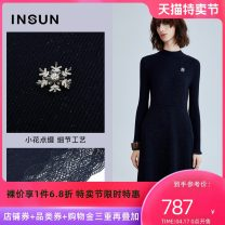 Dress Winter 2020 36/S 38/M 40/L 42/XL 44/XXL Middle-skirt singleton  Long sleeves commute Crew neck middle-waisted Solid color Socket A-line skirt routine Others 30-34 years old Type H Insun / Enshang Simplicity Lace 51% (inclusive) - 70% (inclusive) acrylic fibres Pure e-commerce (online only)