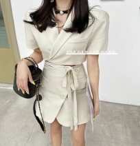 Fashion suit Summer 2021 S,M,L White, black, apricot 51% (inclusive) - 70% (inclusive) cotton