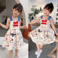 Dress white female Other / other 90cm,100cm,110cm,120cm,130cm,140cm Cotton 100% summer lady Short sleeve Cartoon animation cotton Skirt / vest Class B 2, 3, 4, 5, 6, 7, 8, 9, 10, 11, 12, 13, 14 years old Chinese Mainland