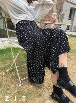 skirt Summer 2021 Average size White spots on a black background, black spots on a white background, broken flowers skirt #NOHASHTAG