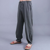 Casual pants Brahma other Basic color (black, gray, white, etc.) M [100-130 Jin], l [130-150 Jin], XL [145-165 Jin], 2XL [170-190 Jin], 3XL [190-205 Jin], 4XL [205-230 Jin] routine trousers Other leisure easy No bullet Don't ask Zhai Four seasons Large size Chinese style 2016 middle-waisted washing