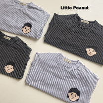 T-shirt Other / other 80cm,90cm,100cm,110cm,120cm,130cm neutral cotton stripe 12 months, 18 months, 2 years old, 3 years old, 4 years old, 5 years old, 6 years old
