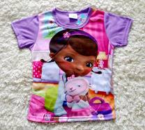T-shirt Light purple, please refer to the actual size selection details Other / other 5-6 (110-116cm), 7-8 (125cm), 2-3 (92-98cm), 9-10 (defect, no return, no replacement, 134-140cm, 3-4 (98-104cm) female summer Short sleeve Crew neck leisure time No model chemical fiber Cartoon animation