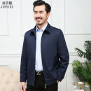 Jacket Other / other Business gentleman thin standard go to work spring Long sleeves Wear out Lapel Business Casual middle age routine Zipper placket Straight hem No iron treatment Loose cuff Solid color polyester fiber More than two bags) Side seam pocket