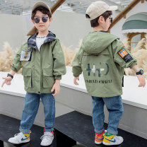 Plain coat Other / other male 110cm,120cm,130cm,140cm,150cm,160cm Yellow, green spring and autumn Korean version Zipper shirt There are models in the real shooting routine No detachable cap Solid color other other Other 100% Class A