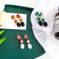 Earrings other RMB 1.00-9.99 Other / other A pair of green ear clips, a pair of pink ear clips, a pair of amber ear clips brand new female Japan and South Korea goods in stock Fresh out of the oven Not inlaid other E565